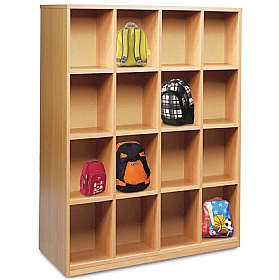 16 Compartment Bag Storage Unit £0 - Education Furniture