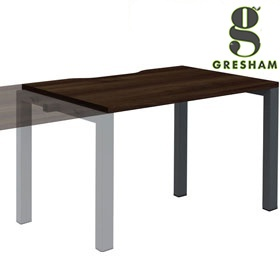 Gresham Mesa Rectangular Single Add On Bench Desks £139 - Office Desks