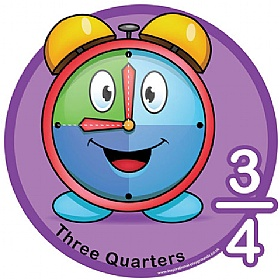 Three Quarters Fraction Sign £0 - Education Furniture