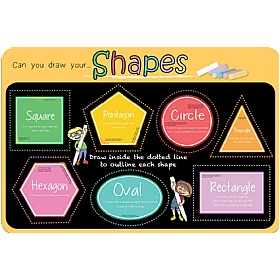 Can You Draw Your Shapes Chalkboard Sign £36 - Education Furniture
