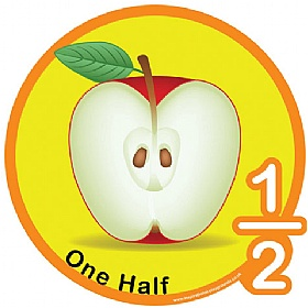 One Half Fraction Sign £0 - Education Furniture