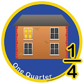 One Quarter Fraction Sign £0 - Education Furniture