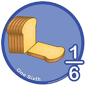 One Sixth Fraction Sign £0 - Education Furniture