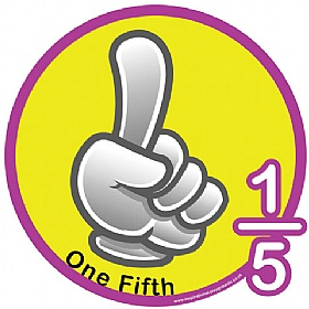 One Fifth Fraction Sign £0 - Education Furniture