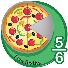 Five Sixths Fraction Sign £0 - Education Furniture