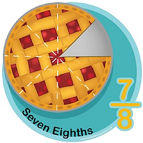 Seven Eighths Fraction Sign £0 - Education Furniture