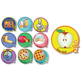Fractions Full Set of 10 Signs £0 - Education Furniture