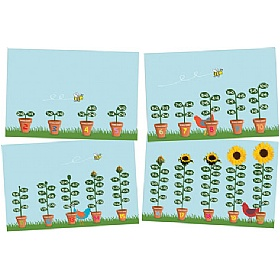 Sunflower Number Bonds Set Of 4 Signs £0 - Education Furniture