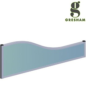 Gresham Mesa Fabric Wave Desktop Screens £152 - Office Desks