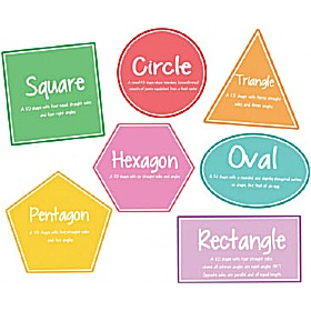 Shapes Full Set Of 7 Signs £0 - Education Furniture