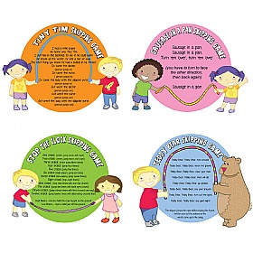 Skipping Games Full Set Of 4 Signs £0 - Education Furniture