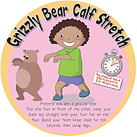 Grizzly Bear Calf Stretch Sign £20 - Education Furniture