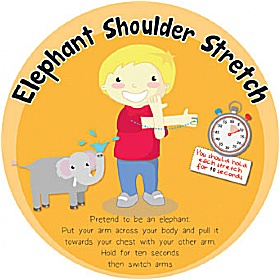 Elephant Shoulder Stretch Sign £0 - Education Furniture