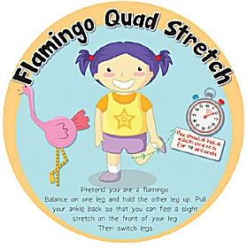 Flamingo Quad Stretch Sign £20 - Education Furniture