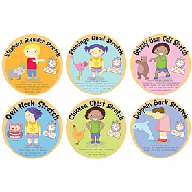 Stretching Full Set Of 6 Signs £0 - Education Furniture