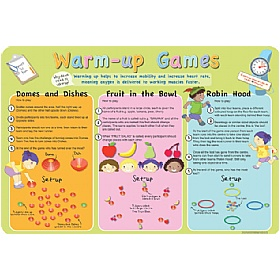 Warm Up Games Sign £36 - Education Furniture