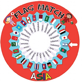 Flag Match Asia Sign £0 - Education Furniture