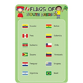 Flags Of South America Sign £36 - Education Furniture