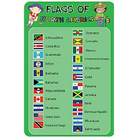Flags Of North America Sign £0 - Education Furniture