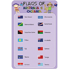 Flags Of Australia And Oceania Sign £0 - Education Furniture