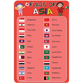 Flags Of Asia Sign £0 - Education Furniture