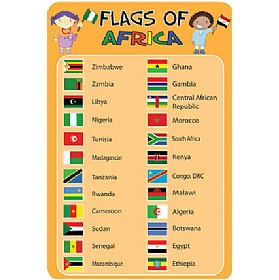 Flags Of Africa Sign £36 - Education Furniture