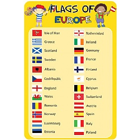 Flags Of Europe Sign £0 - Education Furniture