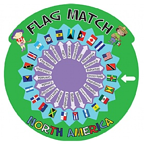 Flag Match North America Sign £0 - Education Furniture