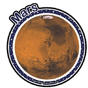 Planet Mars Sign £0 - Education Furniture