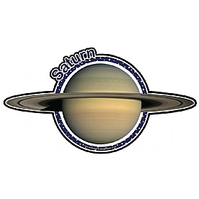 Planets Saturn Sign £20 - Education Furniture