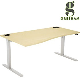 Gresham Rise Sit-Stand Wave Desks £915 - Office Desks