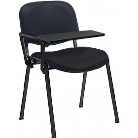 Swift Vinyl Conference Chair Black Frame with Plastic Writing Tablet (Pack of 4 Chairs) £39.25 - Office Chairs