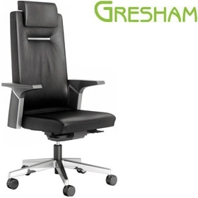 Gresham Harlequin High Back Leather Managers Chair £1191 - Office Chairs