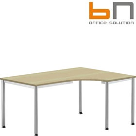 BN Easy Space Height Adjustable Round Leg Ergonomic Desks £266 - Office Desks