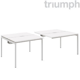 Triumph Metrix Bench Rectangular Double Sided Linked Add On Desk £292 - Office Desks
