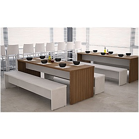 Gresham Deck Two Tone Tables and Benches £293 - Meeting Room Furniture