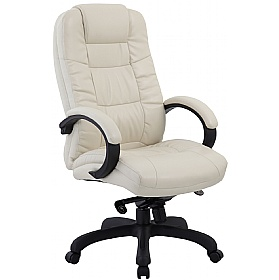 Parma Cream Executive Leather Office Chairs £91 - Office Chairs
