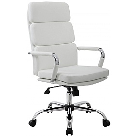 white leather office chair.  Chair Ava White Executive Office Chairs  With Leather Chair H