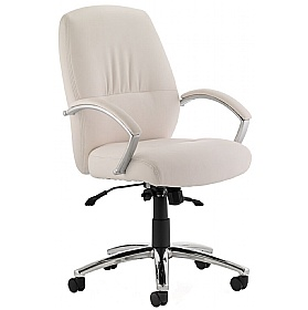 medium back enviro leather executive chair white 167 office chairs