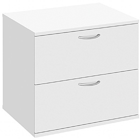 Commerce II White Desk High Side Filer £194 -