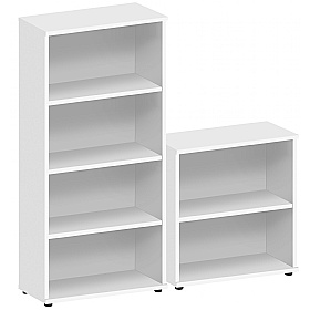 Commerce II White Office Bookcases £81 - Office Desks