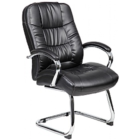 Verona Leather Visitor Chairs £99 - Office Chairs