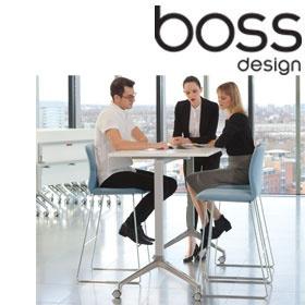 Boss Design Deploy Tall Flip Top Meeting Tables Boss Design Deploy - Tall meeting table