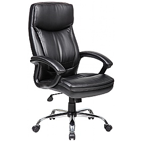 Modena High Back Leather Manager Chairs £85 - Office Chairs