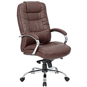 Attrayant Verona Brown Executive Leather Office Chair ...
