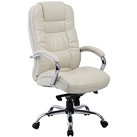 Verona Cream Executive Leather Office Chairs £106 - Office Chairs