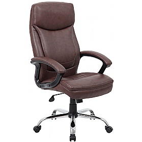 Modena Brown High Back Leather Manager Chairs £95 - Office Chairs