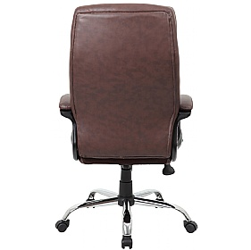 modena brown high back leather manager chairs brown leather office