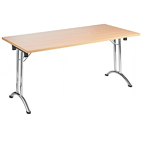NEXT DAY Unite Rectangular Chrome Folding Tables £129 - Meeting Room Furniture