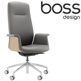 Boss Design Mea High Back Task Chair With Veneer ...  sc 1 st  Office Furniture Online & Boss Design Mea High Back Task Chair With Veneer | Operator Chairs ...